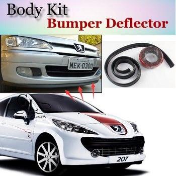 Deflector pára Lábio Lábios Para Peugeot 207/CC 2006 ~ 2015 Spoiler Dianteiro saia Para Os Fãs de TopGear Opinião Do Carro Sintonia/Body Kit/Strip