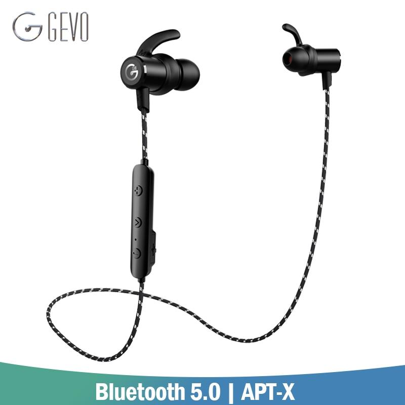 GEVO GV-18BT אוזניות אלחוטיות Bluetooth 5.0 APT-X ספורט באוזן אוזניות סטריאו באז אוזניות סטריאו באז עבור Xiaomi טלפון