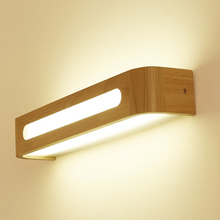 Nordic modern wall lamp creative wood light staircase bedside bathroom 10W6w8w led sconce lights lampade