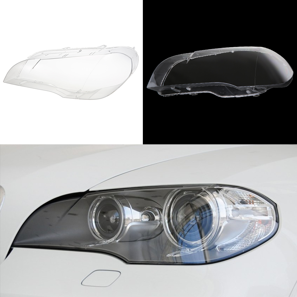 Car Accessory ABS Plastic Headlight Clear Lens Cover Clear Lamp Cover Lampshade Bright For BMW X5