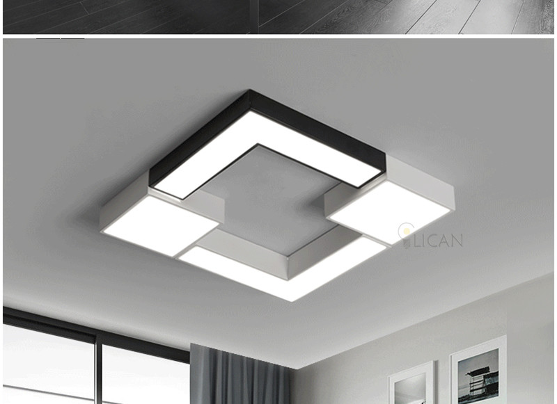 Square Metal Modern Led Ceiling Lights