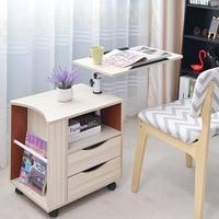 פשוט מודרני חדרי שינה להסרה שולחן ליד מיטת שולחן מחשב נייד מחשב שולחן ליד המיטה ארון צד רב תפקודי לוקר ריהוט