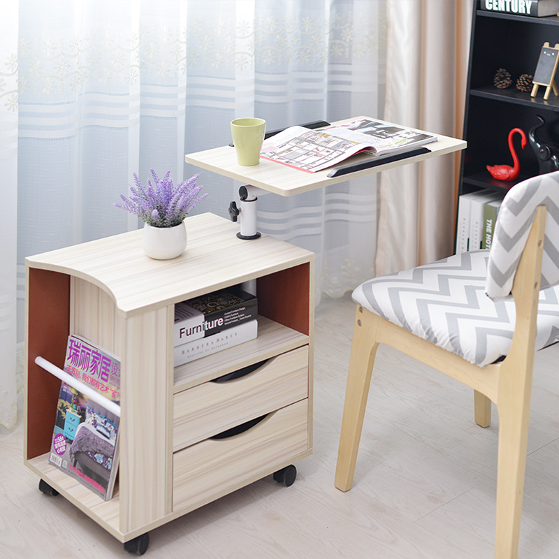 Simple modern computer bedside table laptop table bedside table removable bedroom side cabinet multi-functional locker furniture