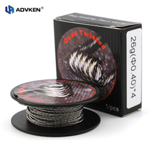 Advken Authentic Kanthal A1 Roll Wire Quad Twisted 10FT/3M Roll Wire of 24g/26g/28g for Atomizer/RTA/RDTA
