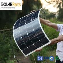Bogung 100w factory direct semi flexible solar panels solar module panel solar for RV Boat Golf