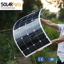 Bogung 100w factory direct semi- flexible solar panels solar module panel solar for RV/Boat/Golf cart/Marine/Yachts/Home use