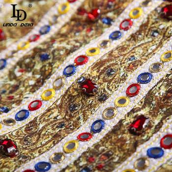 LD LINDA DELLA Summer Fashion Skirts 2 Two Pieces Set Multicolor Floral Appliques Tanks and Women\'s Mini Skirt Sets Ladys Suits