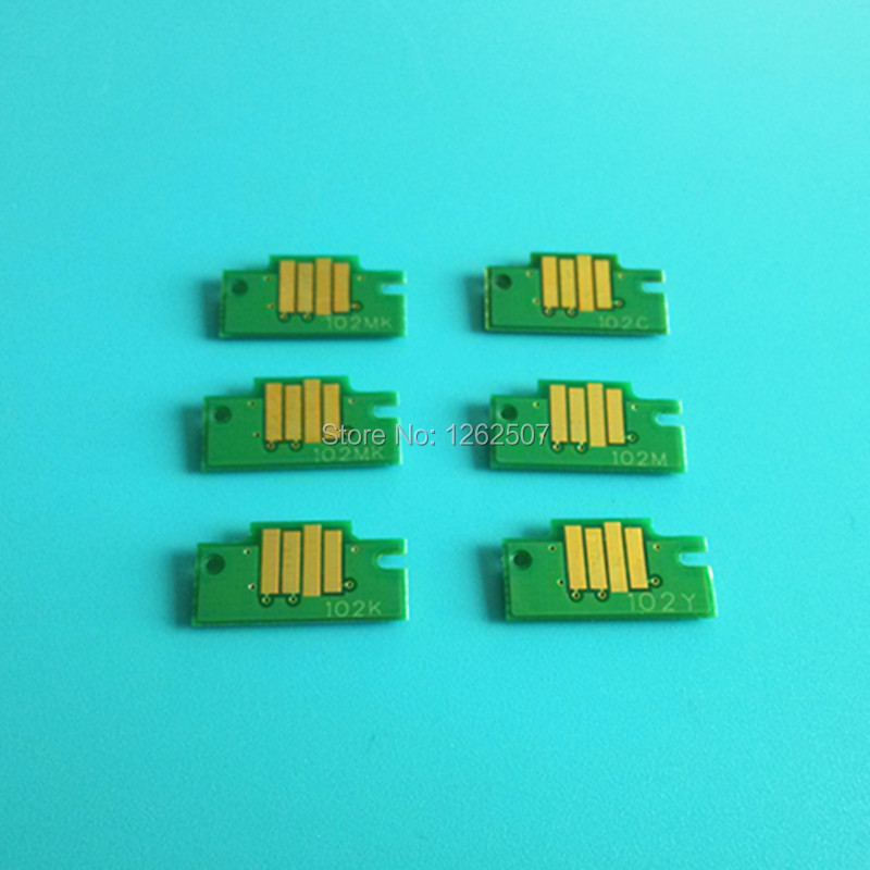 6 PCS/Lot High Quality Ink Cartridge Chip PFI102 For Canon iPF710 Printer 20 pcs high quality 100