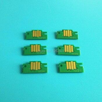 6 PCS/Lot High Quality Ink Cartridge Chip PFI102 For Canon iPF710 Printer