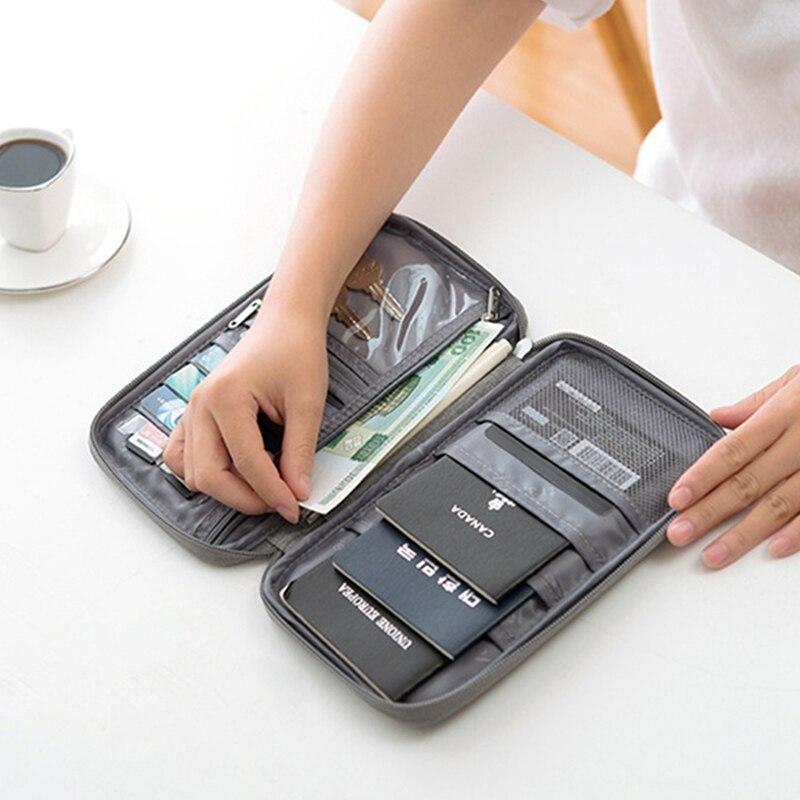 Family Travel Organiser Passport Document Holder RFID Cards Tickets Wallet Pouch Storage Travel Passport Wallet 2 Size