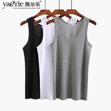 Tank Tops Men 100% Cotton Mens Sleeveless Top Solid Muscle Vest Undershirts O-neck Gymclothing Tees Whorl muscular men