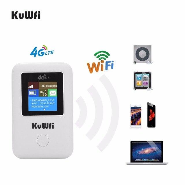 KuWFi מיני 4G LTE WIFI נתב סמארטפון נייד 3G/4G Wifi נתב מודם רכב Wi fi נתב עם כרטיס ה sim חריץ