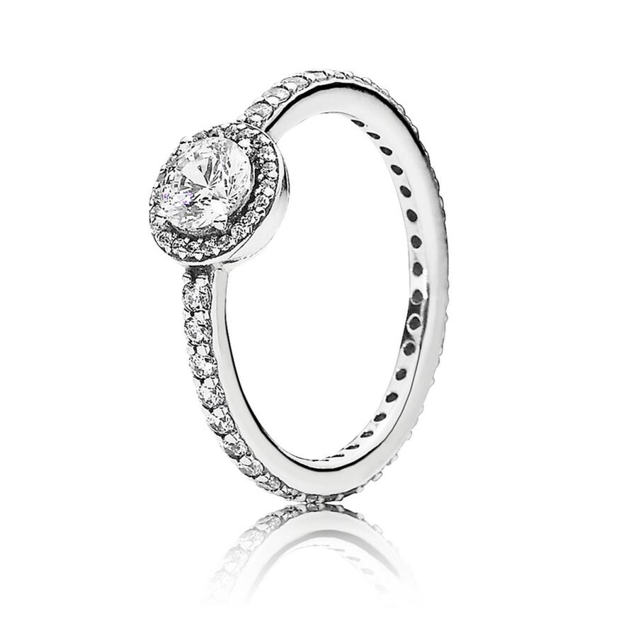 2a55cc2ae Authentic 925 Sterling Silver Pandora Ring Classic Elegance With Crystal  Rings For Women Wedding Party Gift