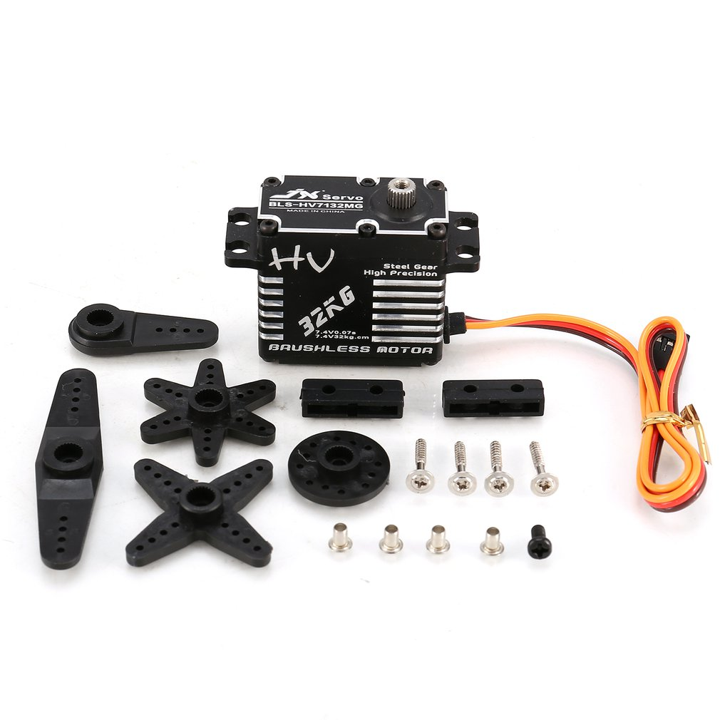 JX BLS-HV7132MG 32KG Metal Steering Digital Gear HV Brushless Servo With High Voltage For RC Car Robot Airplane Drone