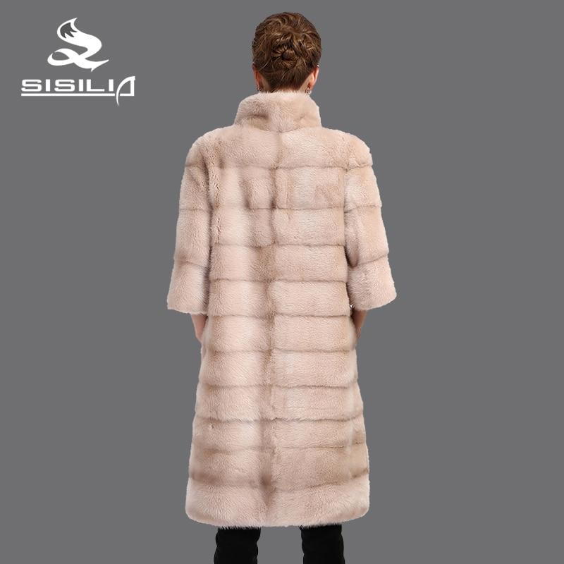 SISILIA 2016 Baru wanita mantel bulu nyata, Kulit Asli, bulu mantel - Pakaian Wanita - Foto 4