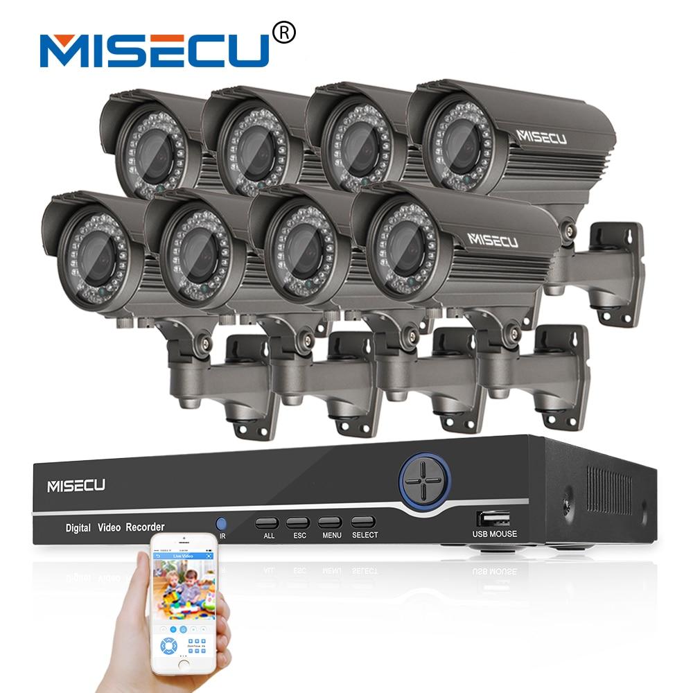 bilder für 1080 P 8CH NVR KIT echt POE 48 v 2.0MP 8 stücke IR POE IP 36 stücke IR 2,8-12 Zoom objektiv Kamera Wasserdicht P2P Onvif CCTV Surveillance kit