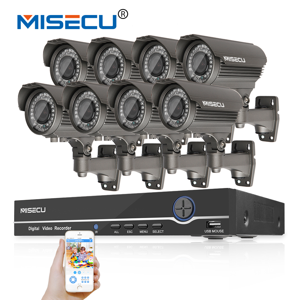 1080P 8CH NVR KIT real POE 48v 2.0MP 8pcs IR POE IP 36pcs IR 2.8-12 Zoom lens Camera Wat ...