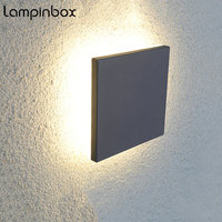 8w LED Wall Lights Outdoor Aluminum Waterproof Wall Lamp Indoor Wall Decorate Lighting Garden Porch Light