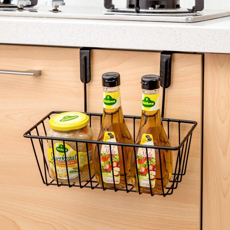 Kitchen Cabinets Wrought Iron Wall Hanging Basket Storage Basket Storage  Rack Spice Rack Shelving Drain(