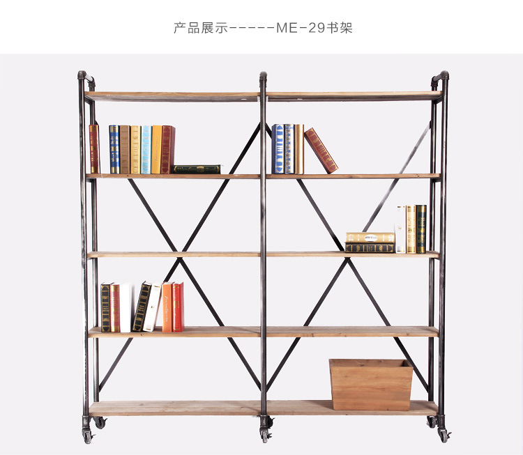 American Industry Iron Wood Furniture French Country Style Wooden Structure Storage Shelf Bookcase In Coffee Tables From On