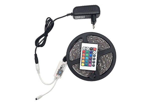 HTB10s7wisuYBuNkSmRyq6AA3pXaH 5M 10M 15M WiFi RGB LED strip light Waterproof SMD5050 3528 2835 DC 12V led tiras diode flexible ribbon contoller+plug led strip