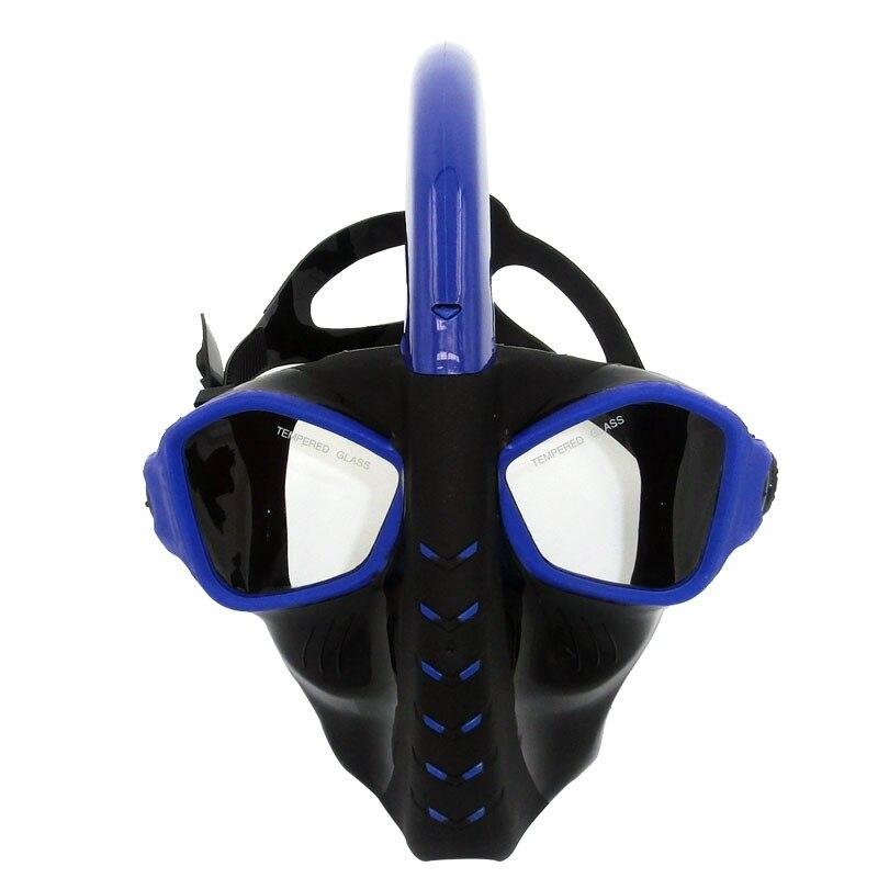 Plein Sec Plongée Masque Plongée En Apnée Masque de Silicone Plongée Maske Mascara Buceo Plein Visage Masque Tuba Plongee Nager Masque Pour Adulte
