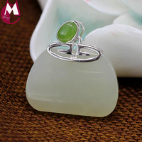 100% Real 925 Sterling Silver Necklaces Pendants For Women Luxury Natural Jade Pendant Gemstone Jewelry Jasper Mother Gifts SP70