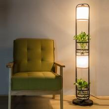 Moderne Kreative Pastorale Land Eisen Glas Led E27 Stehleuchte mit Hydroponics Für Wohnzimmer Schlafzimmer Deco H 120 cm 1056
