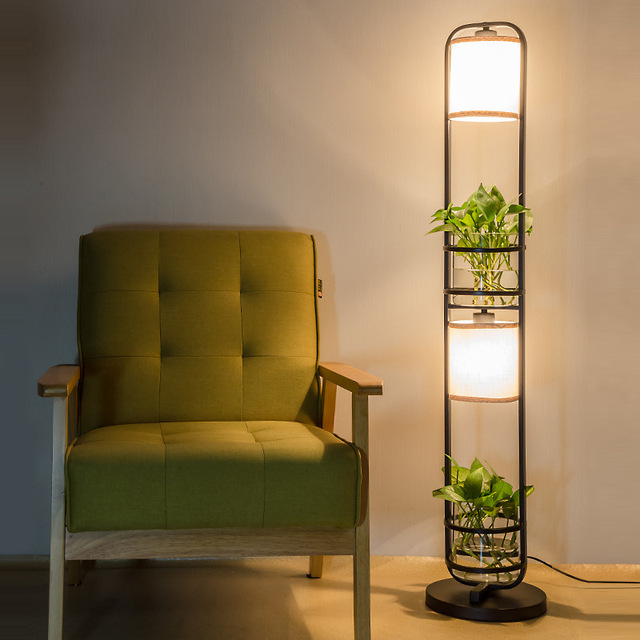 Modern creative pastoral country iron glass led e27 floor lamp with modern creative pastoral country iron glass led e27 floor lamp with hydroponics for room living room mozeypictures Choice Image