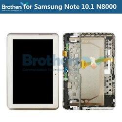 LCD Für Samsung Galaxy Note 10,1 N8000 N8010 LCD Display Mit Rahmen Touch Screen Digitizer Montage N8000 N8010 Tablet LCD AAA