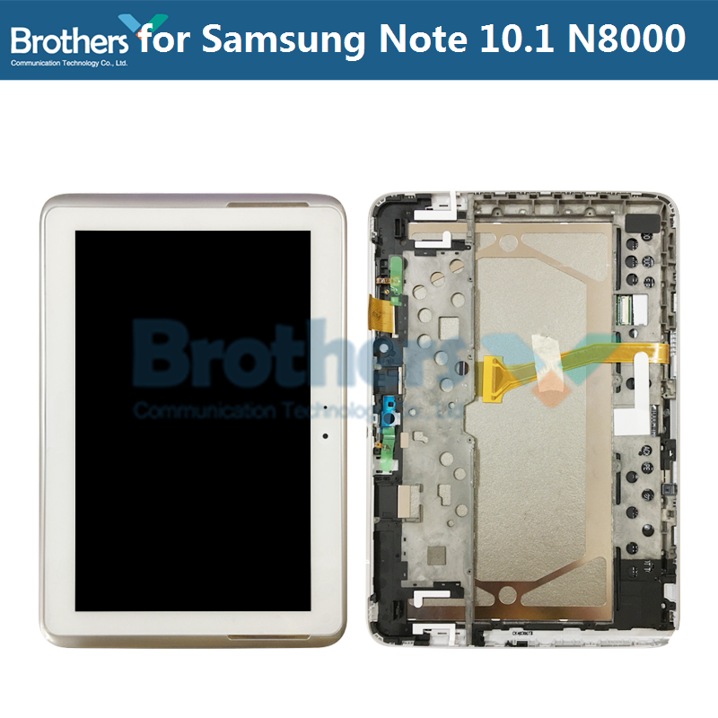 LCD For Samsung Galaxy Note 10.1 N8000 N8010 LCD Display With Frame Touch Screen Digitizer Assembly N8000 N8010 Tablet LCD AAA
