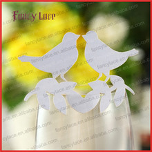 50pcs New Design Wedding Decoration Place Cards,Luxurious Customized Love Bird Shaped Laser Cutting Cards Paper Party Favors