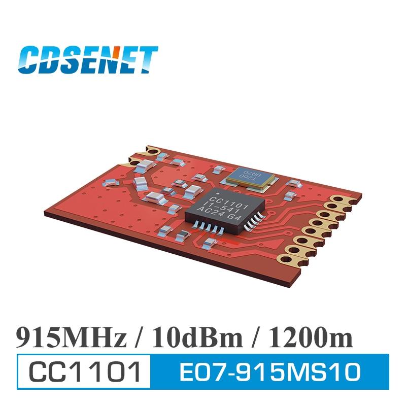 imágenes para 2 PC/Lot E07-915MS10 CDSENET CC1101 915 MHz 1200 m SPI Módulo de Transceptor Original SMD SPI Módulo de Transmisión Inalámbrica de Datos