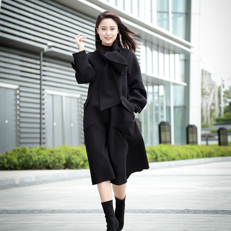 Womens Sheep Woolen Coat Army Green Belt font b Slim b font Warm Winter Trench Long