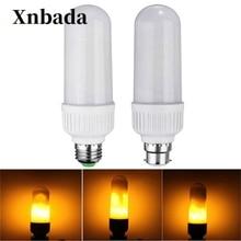 5W 2835 SMD B22 E27 LED Lamp 1800K Yellow Flickering Flame Fire LED Corn Bulb Light AC85-265V Free shipping стоимость