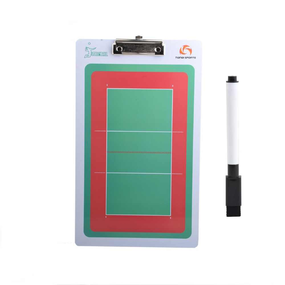 Volleyball Coach Board 2-Sides Champion Sports Large Dry Erase Clipboard For Coaching Strategizing Techniques Tactical plate