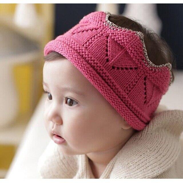 fbe67a905d4 Baby Toddler Boys Girls Crown Design Warm Soft Birthday Solid Pattern Knit  Crochet Beanie Hat