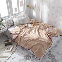 Папа и мима Лето Стёганое одеяло Twin queen Размеры Единорог вышитые бросает Одеяло постельное белье из хлопка плед покрывало