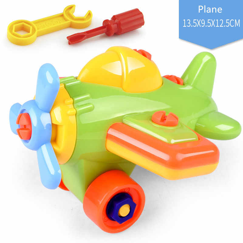 5 Kinds Plastic 3D Disassembly Nut Toy Car Educational Puzzle Tools Model Building Kits Construction Toys For Boys