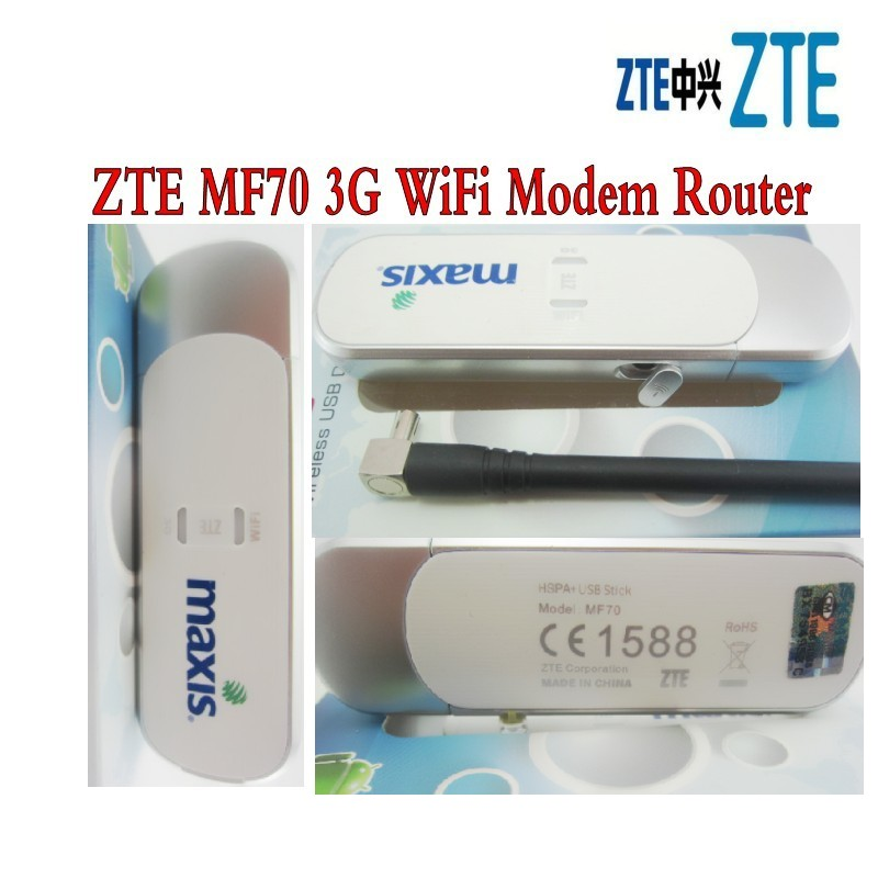 <font><b>ZTE</b></font> <font><b>MF70</b></font> Pre-Paid 3G Modem USB+Wifi up to 5 devices image