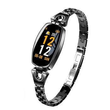 Kobiety moda inteligentny bransoletka do zegarka Smartwatch z ciśnienia krwi tętno monitora Fitness Tracker dla IOS Android