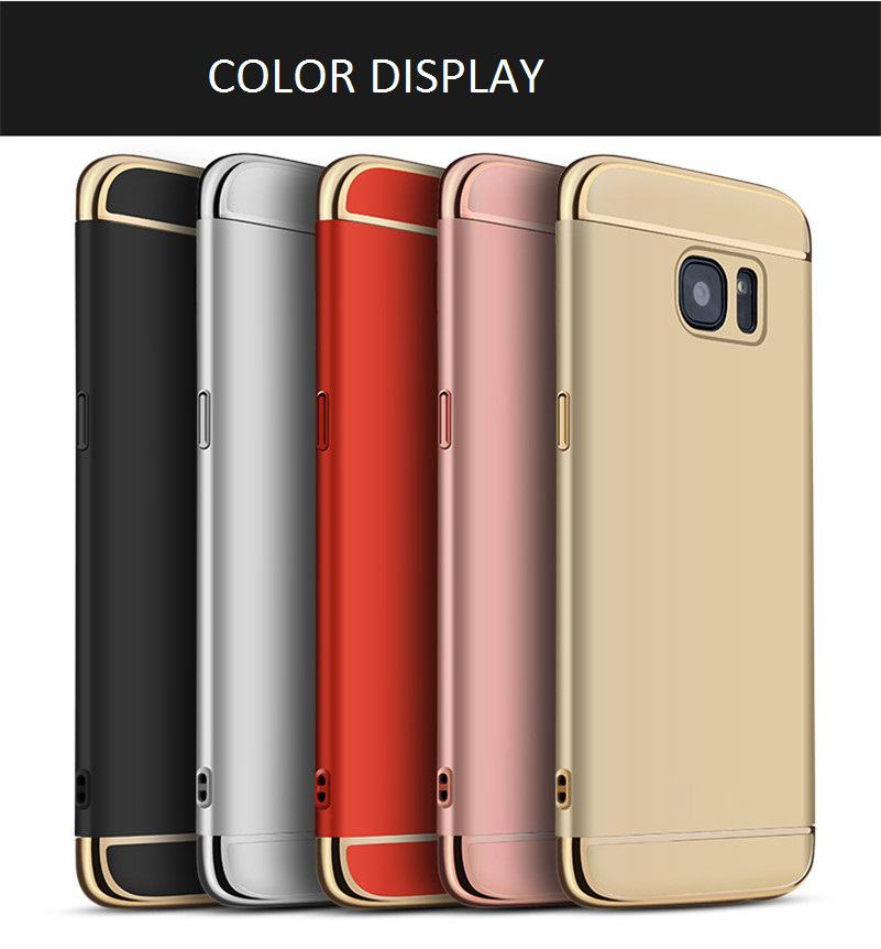 CONNICS Phone Case S7 S7 Edge for Women Men Electroplating Frame 3 in 1 Hard PC Back Cover For Samsung Galaxy S7  S7 Edge Cases (31)
