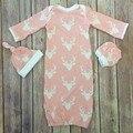 SR115 Caçoa o Presente Do Bebê Boy & Meninas Veados Natal sacos de dormir do bebê sacos de dormir no outono e na primavera 3 pcs romper + chapéu + luvas