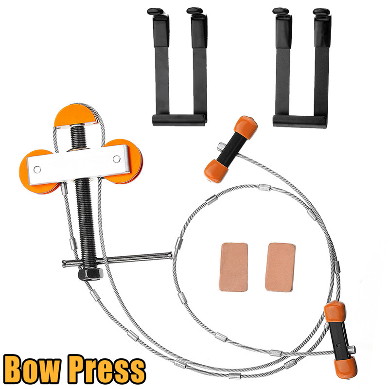 купить Hot Sale Durable Hand Held Portable Bow Press and Quad Brackets Tool Set For Compound Bow Hunting Archery Hunting Accessories по цене 2575.3 рублей