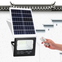 100W advanced outdoor garden street floodlight LED solar panel power supply flood light