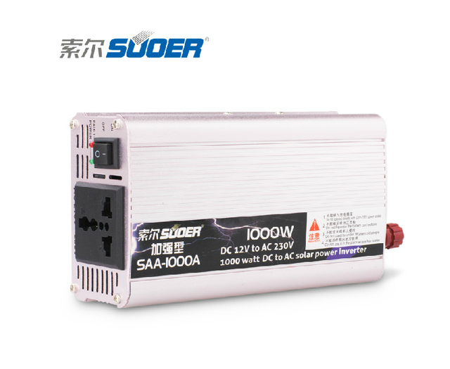 Free Shipping SAA-1000A 1000watt DC 12V to AC 230V Solar power inverter/Car power inverter