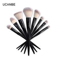 8 Pcs Set Pro Makeup Brushes Set Make Up Cosmetics Brush 6 Eyeliner Eye Shadow Eyebrow