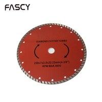 230mm Diamond Cutter Turbo Circular Saw Granite Stone Cutting Disc Blade Multi Holes Durable Tool