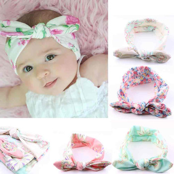 Kids Headband 4PC Baby Infant Kids Girls Rabbit Ears Hairband Turban Bowknot Headwrap Hairband Bow Flower Hair girl headbands#30 artificial nails