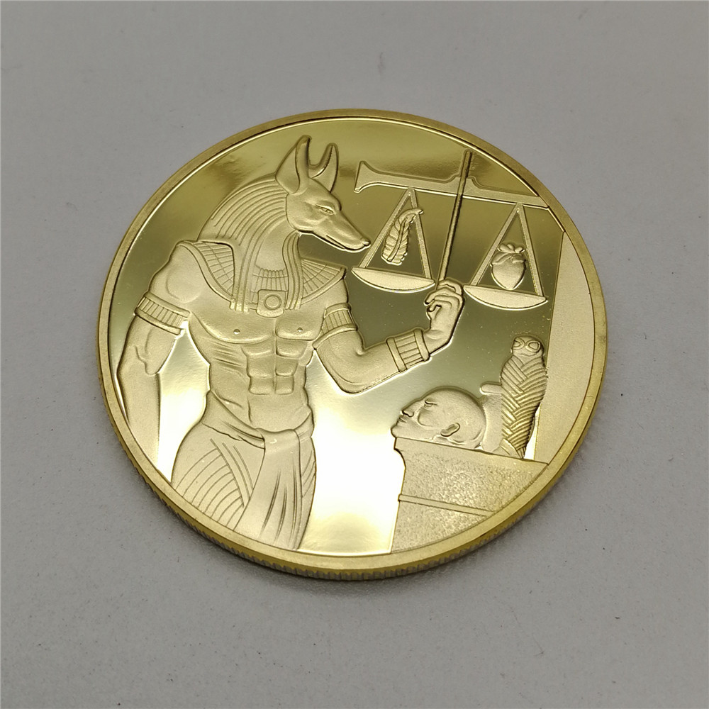 Egypt Coin Death Protector Anubis Egyptian God Of Death Commemorative Collection